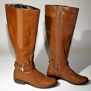 Alfani Tan faux leather Boots Size 7.5